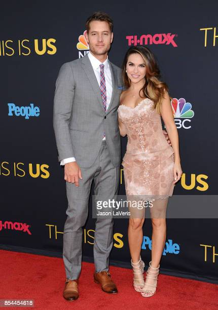 Actor Justin Hartley and actress Chrishell Stause attend the season 2 premiere of 'This Is Us' at NeueHouse Hollywood on September 26 2017 in Los...