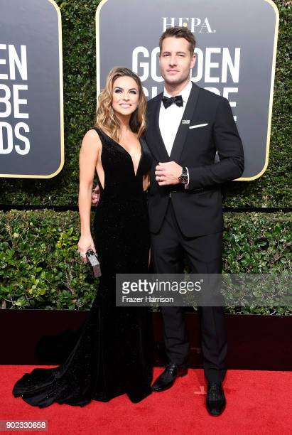 Actor Justin Hartley and Chrishell Stause attend The 75th Annual Golden Globe Awards at The Beverly Hilton Hotel on January 7 2018 in Beverly Hills...