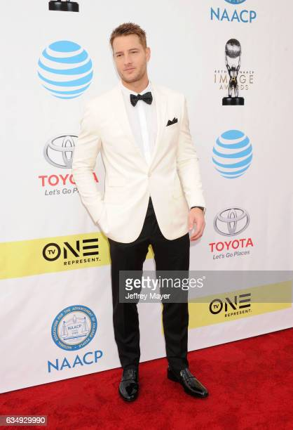 Actor Justin Hartley arrives at the 48th NAACP Image Awards at Pasadena Civic Auditorium on February 11 2017 in Pasadena California