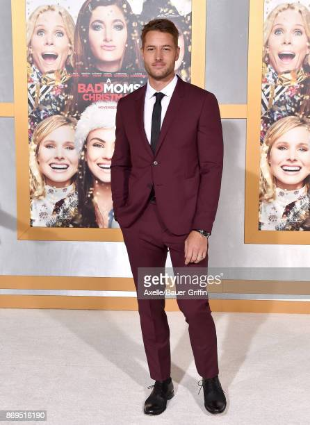 Actor Justin Hartley arrives at the Los Angeles premiere of 'A Bad Moms Christmas' at Regency Village Theatre on October 30 2017 in Westwood...