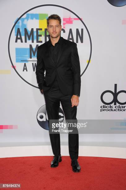 Actor Justin Hartley attend 2017 American Music Awards at Microsoft Theater on November 19 2017 in Los Angeles California