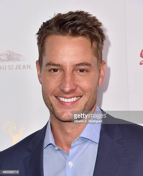 Actor Justin Hartley attends a cocktail reception hosted by the Academy of Television Arts Sciences celebrating the Daytime Peer Group at Montage...