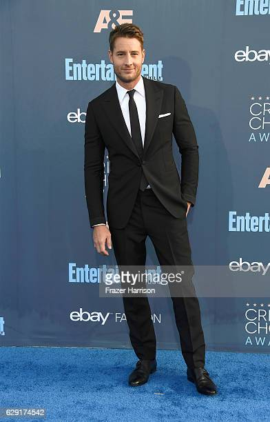 Actor Justin Hartley attends The 22nd Annual Critics' Choice Awards at Barker Hangar on December 11 2016 in Santa Monica California