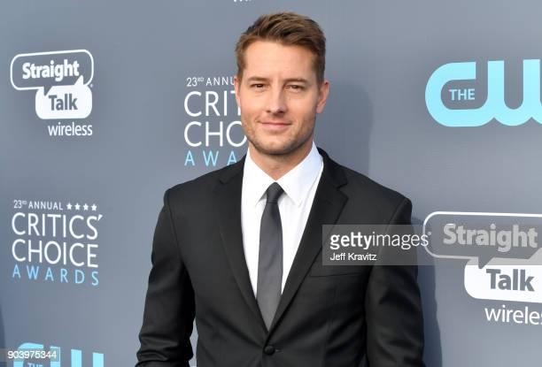 Actor Justin Hartley attends The 23rd Annual Critics' Choice Awards at Barker Hangar on January 11 2018 in Santa Monica California