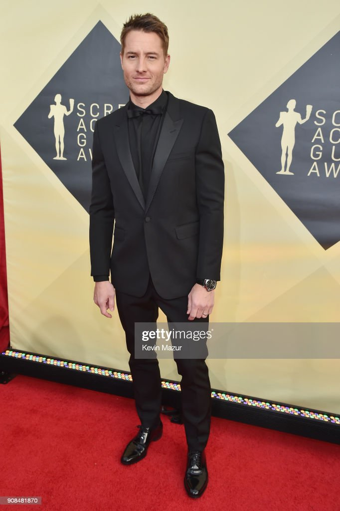 Actor Justin Hartley attends the 24th Annual Screen Actors Guild Awards at The Shrine Auditorium on January 21, 2018 in Los Angeles, California. 27522_007