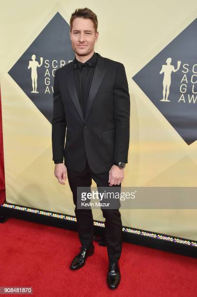 Actor Justin Hartley attends the 24th Annual Screen Actors Guild Awards at The Shrine Auditorium on January 21 2018 in Los Angeles California...