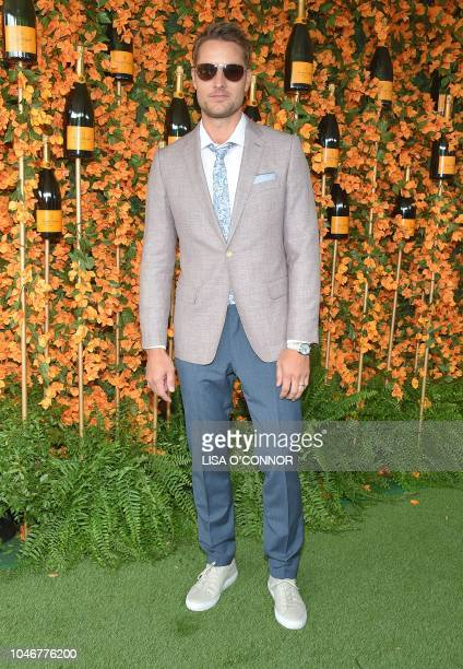 US actor Justin Hartley attends the 9th Annual Veuve Clicquot Polo Classic in Los Angeles California on October 6 2018