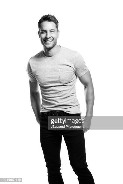 Actor Justin Hartley is photographed for Spec on February 7, 2018 in North Hollywood, California.
