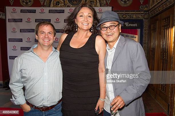 Actor Justin Henry actress Debbie Pollack and actor Gedde Watanabe arrive at the 30th Anniversary Screening of Sixteen Candles at Castro Theater on...