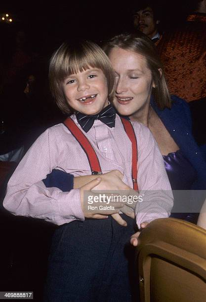 Actor Justin Henry and actress Meryl Streep attend the Kramer vs Kramer Premiere Party on December 17 1979 at the Metropolitan Club in New York City