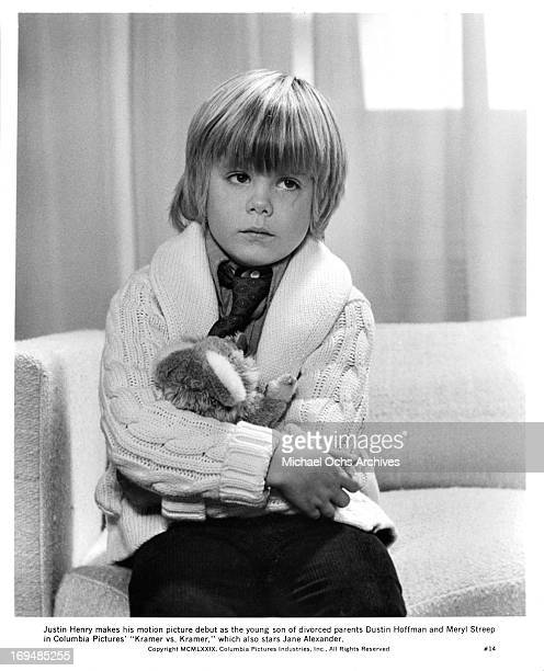 Actor Justin Henry poses for a portrait on the set of Kramer vs Kramer in circa 1979