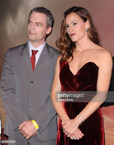 Actor Justin Kirk and actress Jennifer Garner attend the premiere of 'The Tribes of Palos Verdes' at The Theatre at Ace Hotel on November 17 2017 in...