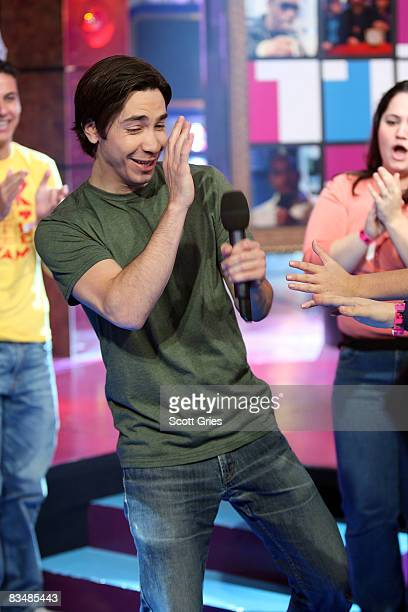 Actor Justin Long appears onstage during MTV's Total Request Live at the MTV Times Square Studios October 29 2008 in New York City