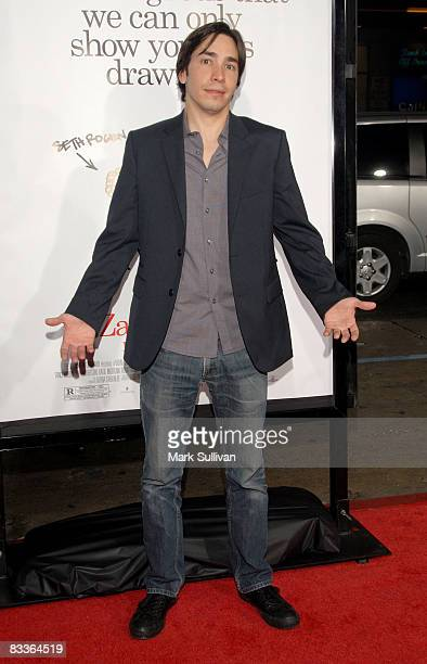 Actor Justin Long arrives at the Los Angeles Premiere of Zack And Miri Make A Porno at the Grauman's Chinese Theater on October 20 2008 in Hollywood...