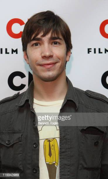 Actor Justin Long attends the screening of Vince Vaughn's Wild West Comedy Show 30 Days 30 Nights Hollywood to the Heartland at the IFC Center...