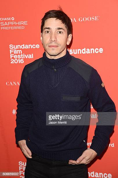 Actor Justin Long attends the 'Yoga Hosers' Premiere during the 2016 Sundance Film Festival at Library Center Theater on January 24 2016 in Park City...