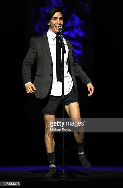 Actor Justin Long speaks onstage at Variety's Power of Comedy presented by Sims 3 in Partnership with Bing at Club Nokia on December 4 2010 in Los...