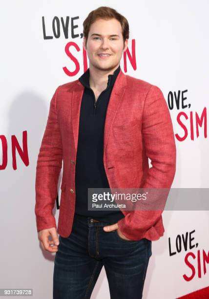 Actor Justin Prentice attends the 'Love Simon' special screening at the Westfield Century City on March 13 2018 in Century City California