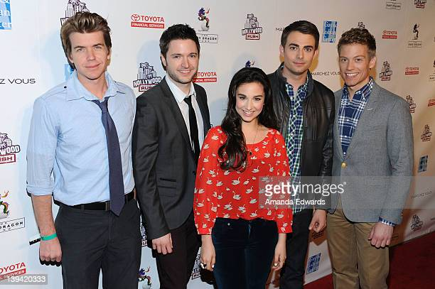 Actor Justin Root Lucian Piane Molly Ephraim Jonathan Bennett and Barrett Foa arrive at the 2nd Annual Hollywood Rush Benefiting The Baby Dragon Fund...