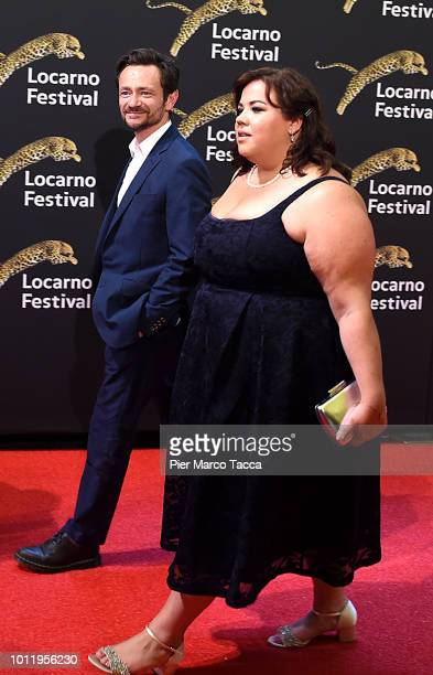 Actor Justin Salinger and Actress Ella Smith attend 'RayLiz' photocall during the 71st Locarno Film Festival on August 5 2018 in Locarno Switzerland