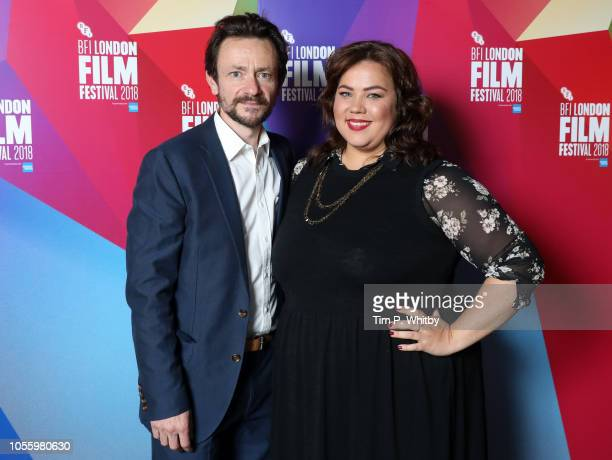 Actor Justin Salinger and actress Ella Smith attend the UK Premiere of Ray Liz at the 62nd BFI London Film Festival on October 17 2018 in London...