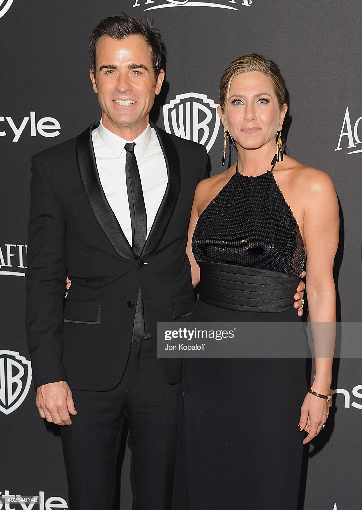Actor Justin Theroux and actress Jennifer Aniston arrive at the 16th Annual Warner Bros. And InStyle Post-Golden Globe Party at The Beverly Hilton Hotel on January 11, 2015 in Beverly Hills, California.