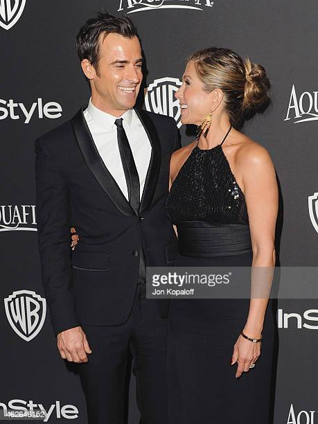 Actor Justin Theroux and actress Jennifer Aniston arrive at the 16th Annual Warner Bros And InStyle PostGolden Globe Party at The Beverly Hilton...