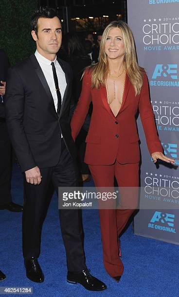 Actor Justin Theroux and actress Jennifer Aniston arrive at the 20th Annual Critics' Choice Movie Awards at Hollywood Palladium on January 15 2015 in...