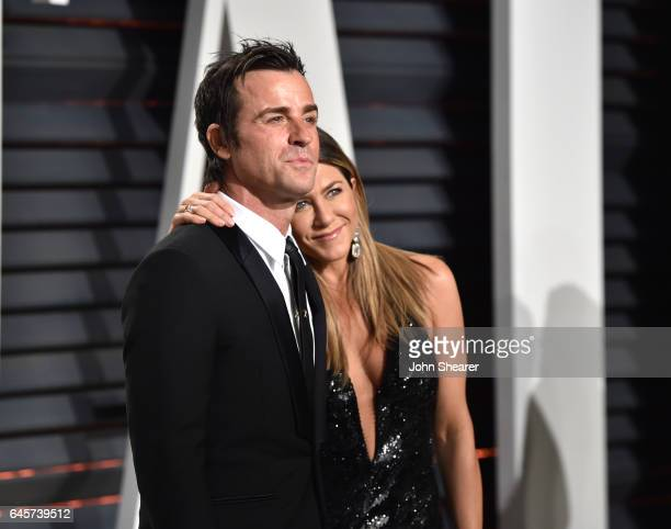 Actor Justin Theroux and actress Jennifer Aniston attend the 2017 Vanity Fair Oscar Party hosted by Graydon Carter at Wallis Annenberg Center for the...