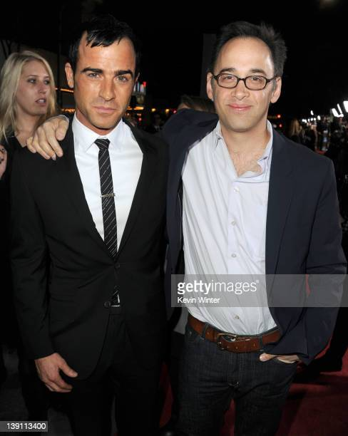 Actor Justin Theroux and writer/director David Wain arrive at the premiere of Universal Pictures' 'Wanderlust' held at Mann Village Theatre on...