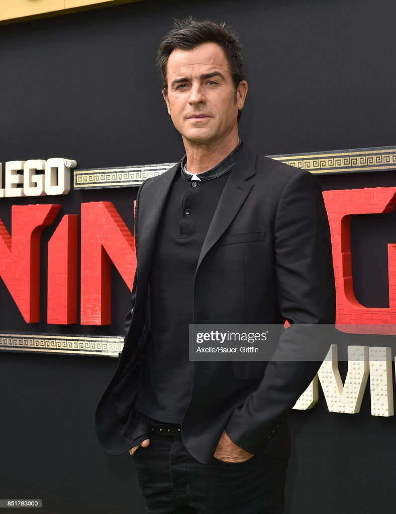 Actor Justin Theroux arrives at the premiere of 'The LEGO Ninjago Movie' at Regency Village Theatre on September 16, 2017 in Westwood, California.