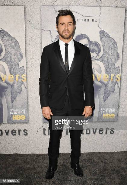 Actor Justin Theroux attends the season 3 premiere of The Leftovers at Avalon Hollywood on April 4 2017 in Los Angeles California