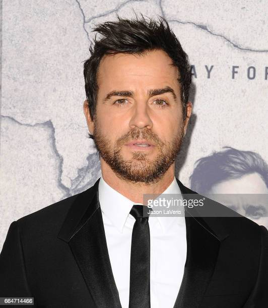 Actor Justin Theroux attends the season 3 premiere of 'The Leftovers' at Avalon Hollywood on April 4 2017 in Los Angeles California