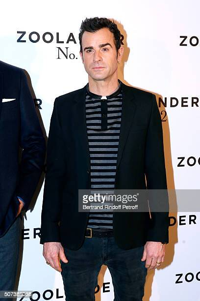 Actor Justin Theroux attends the 'Zoolander 2' Paris Photocall at Hotel Plaza Athenee on January 29 2016 in Paris France
