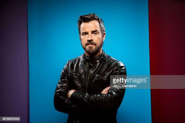 Actor Justin Theroux from the film 'The Lego Ninjago Movie' is photographed in the LA Times photo studio at ComicCon 2017 in San Diego CA on July 21...