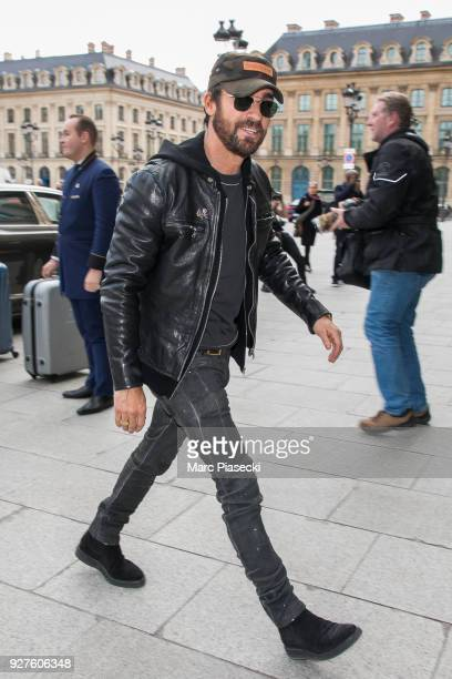 Actor Justin Theroux is seen on March 5 2018 in Paris France