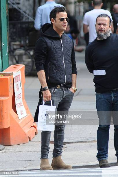 Actor Justin Theroux is seen on October 25 2017 in New York City