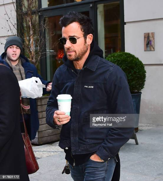 Actor Justin Theroux is seen walking in Soho on February 12 2018 in New York City