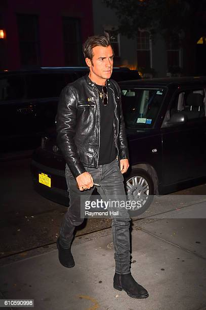 Actor Justin Theroux is seen walking in Soho on September 26 2016 in New York City