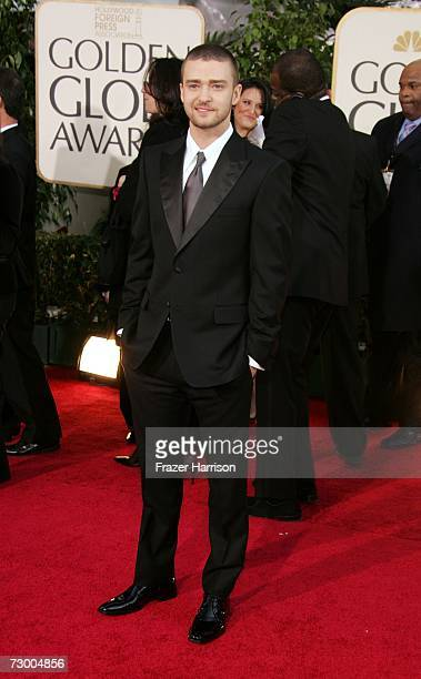 Actor Justin Timberlake arrives at the 64th Annual Golden Globe Awards at the Beverly Hilton on January 15 2007 in Beverly Hills California