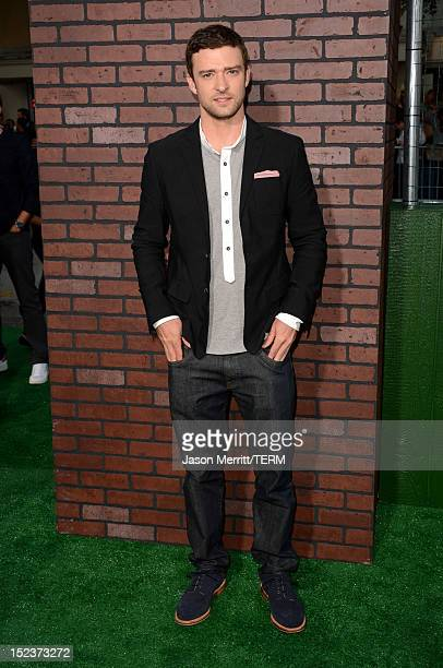 """Actor Justin Timberlake arrives at Warner Bros. Pictures' """"Trouble With The Curve"""" premiere at Regency Village Theatre on September 19, 2012 in..."""