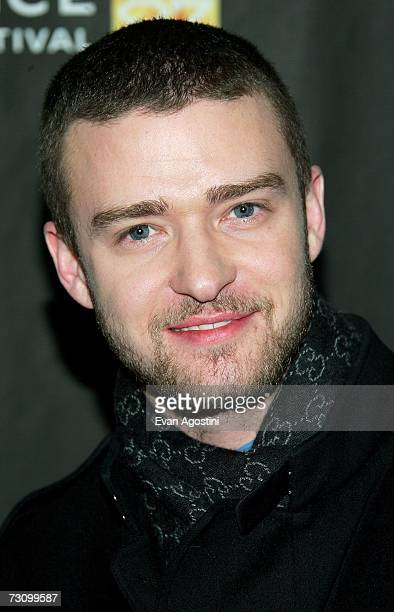 Actor Justin Timberlake arrives for the Black Snake Moan premiere at the Eccles Theater during the 2007 Sundance Film Festival on January 24 2007 in...