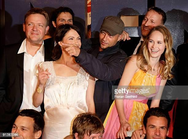 Actor Justus von Dohnanyi actress Jana Pallaske actor Til Schweiger actor Wotan Wilke Moehring and Inez Bjoerg David attend the premiere of...