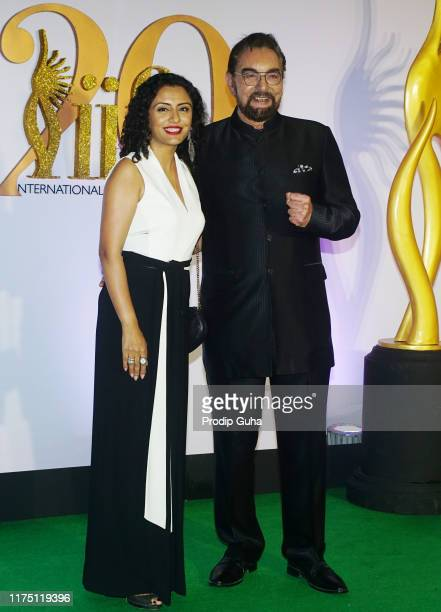 Actor Kabir Bedi and Parveen Dusanj attend the 20th IIFA Awards on September 16 2019 in Mumbai India