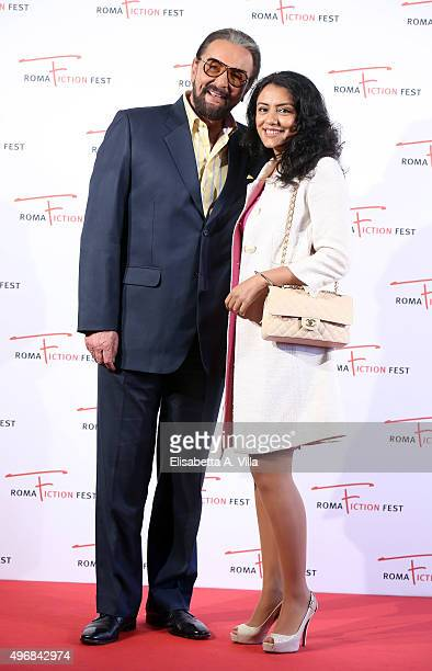 Actor Kabir Bedi and wife Parveen Dusanj attend a photocall for 'Buddha King of Kings' during the 9th Roma Fiction Fest at Cinema Adriano on November...