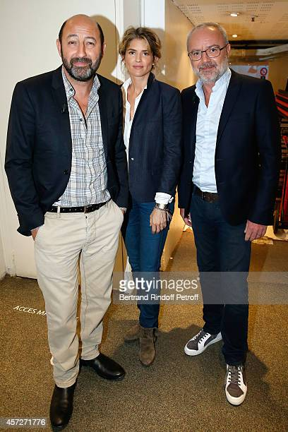 Actor Kad Merad actress Alice Taglioni and director Olivier Baroux present the movie On a marche sur Bangkok during the 'Vivement Dimanche' French TV...