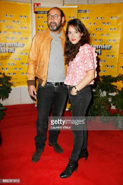 Actor Kad Merad and Actress Anais Demoustier attends 13th 'Mon Premier Festival' Opening Ceremony at Forum Des Images on October 25 2017 in Paris...