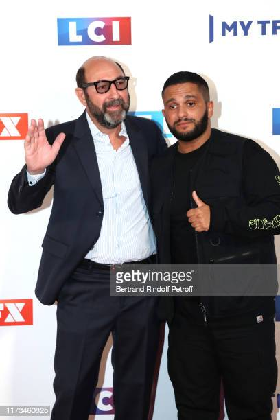 Actor Kad Merad and humorist Malik Bentalha attend the Groupe TF1 Photocall at Palais de Tokyo on September 09 2019 in Paris France