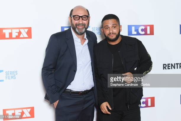 Actor Kad Merad and humorist Malik Bentalha attends the Groupe TF1 Photocall At Palais De Tokyo on September 09 2019 in Paris France