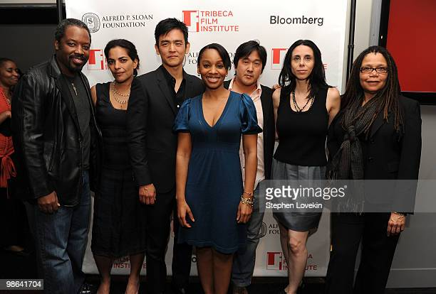Actor Kadeem Hardison actress Sarita Choudhury and actor John Cho singer/actress Anika Noni Rose Michael Kang filmmaker Linda Goode Bryant and...